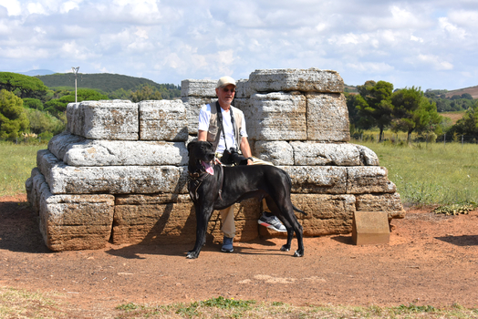 Kurze Pause auf etruskischen Ausgrabungen
