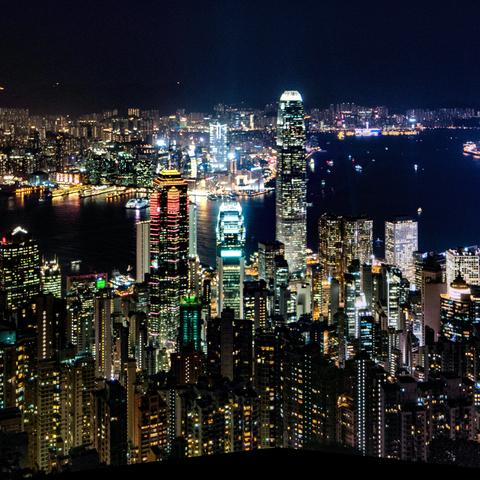 Panorama Hongkong vom Victoria Peak