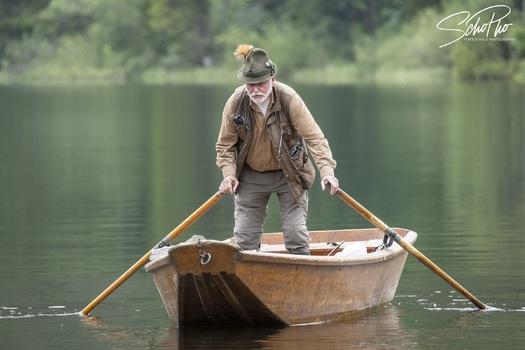 Traditioneller Fischer im Salzkammergut