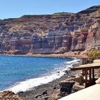 Mesa Pigadia / schwarzer Strand - Santorini