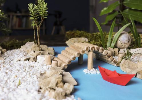 Miniaturlandschaft am Schreibtisch