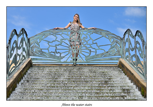 Above the water stairs