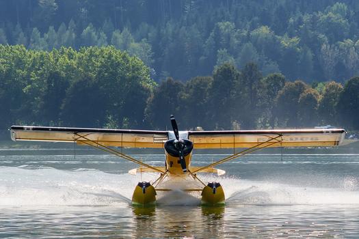 Landung auf dem Stubenbergersee