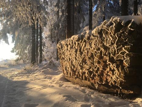 Holzstaffel