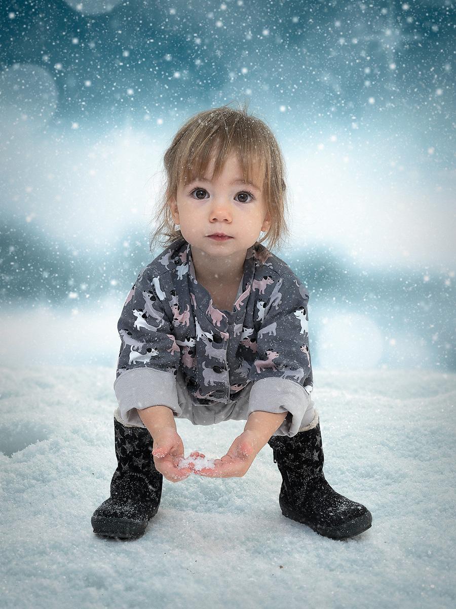 Klara im Schnee