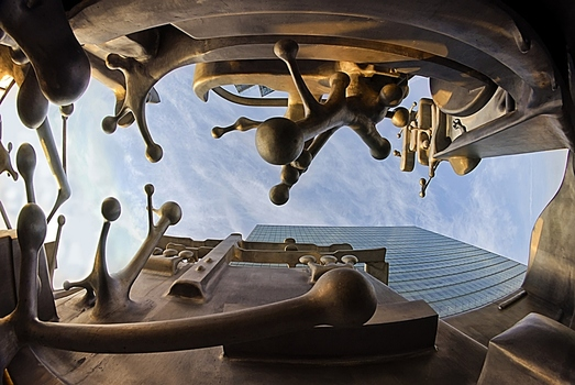 Blick aus dem Kunstwerk