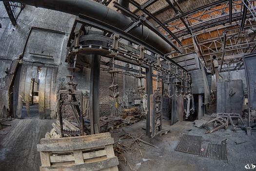 Verlassenes Stahlwerk