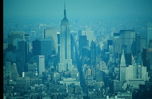 NEW YORK VOR CA. 40 JAHREN VON WORLD TRADE CENTER 9/11 AUS GESEHEN