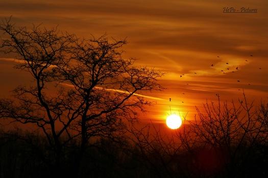 Sonnenaufgang in Jabing