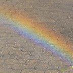 Regenbogen ma Boden