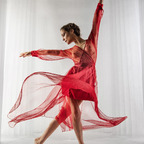 red ballerina