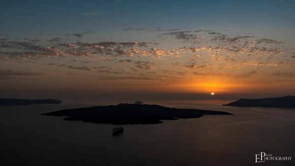Sunset Nea Kameni