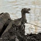 Holz Ente mit Robben