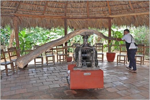 Kuba, Manaca Iznaga, Zuckerrohr-Saftpresse