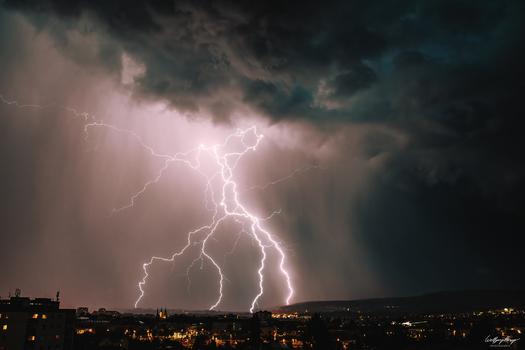 Gewitter über Villach