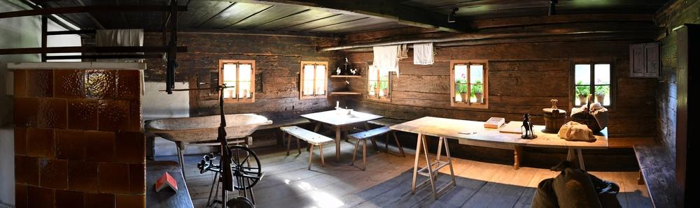 Stube, Lärchenhaus (Freilichtmuseum Großgmain)