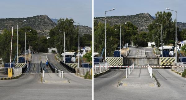 Östliche Senkbrücke des Kanals von Korinth