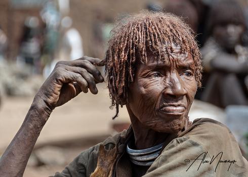 elder woman from the hamer tribe