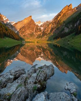 Alpenglühen am Seealpsee