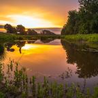 Sonnenaufgang im Machland