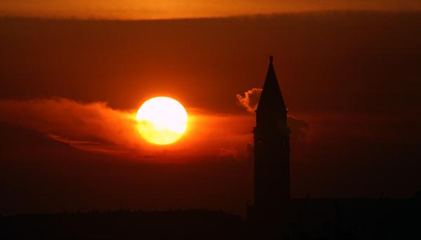 campanile at 9pm