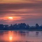 Sonnenaufgang im Nationalpark Neusiedler See