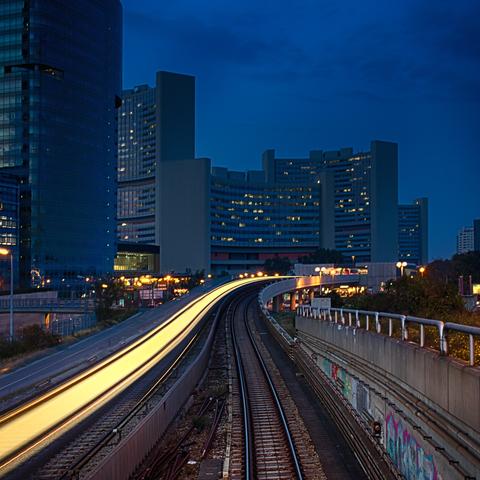 Donau-City mit U-Bahn