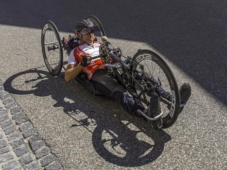Behinderten Radsport Rennen