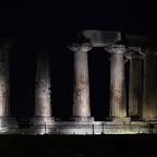 Apollo Tempel (Alt Korinth) bei Nacht
