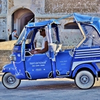 Cabrio-TAXI / Otranto / Apulien / Italien