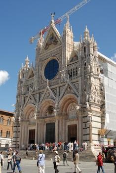 Siena, der Dom mit Bauarbeiten