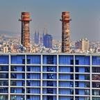 "Barcelona - aus der ""Transbordador Aeri del Port"" (der Hafen-Seilbahn)"