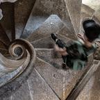 Bei der Doppelwendel Treppe , Graz