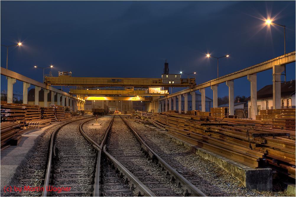 Nacht im Schienenwerk WWG