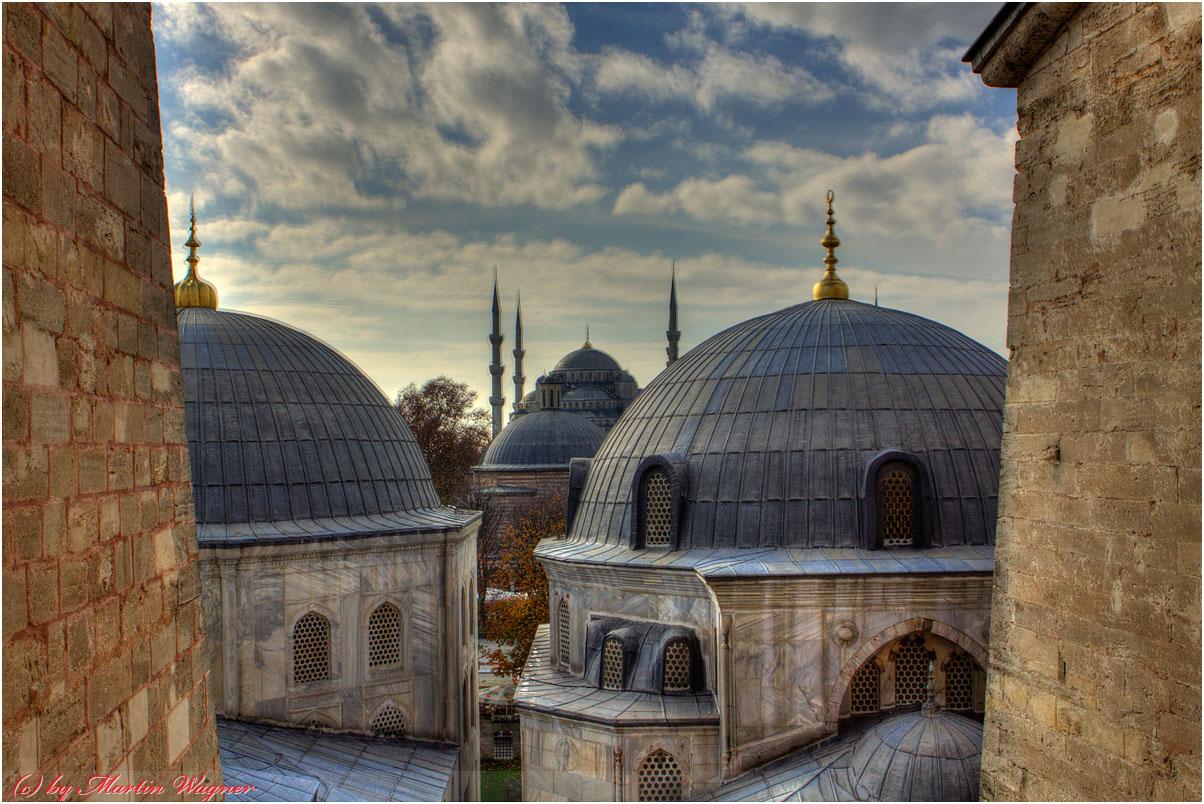 Blick zur Blauen Moschee