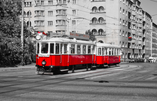 Historische Tram in Wien