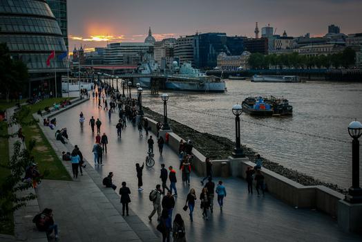 Blick von der Tower Bridge