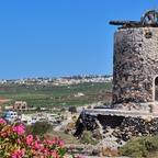Windmühle in Emporio - Santorin