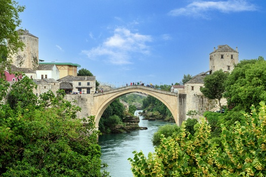 alte Brücke in Mostar - Bosn.-Herzeg.