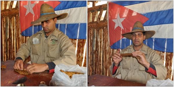 Kuba, Valle de Viñales, Zigarren drehen