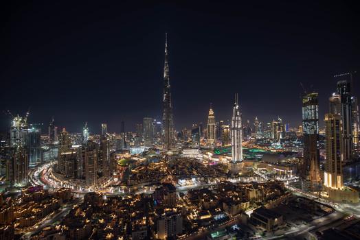 Dubai vom 52 Stock des Damac Maison