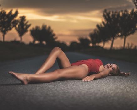 Sonnenuntergang mit Petra