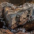 Gefrorene stein Herz