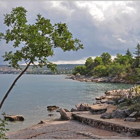 Strand bei Malinska (Krk)