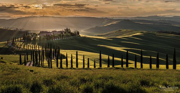 Sonnenuntergang Toskana