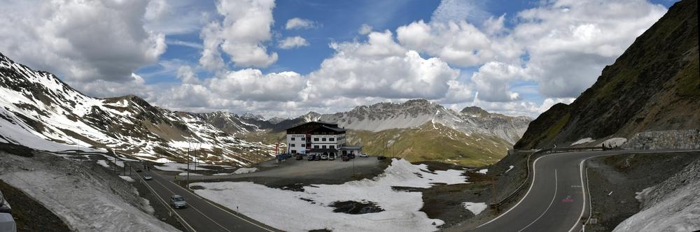 Panorama Stelvio Westseite (5 Bilder freihand)