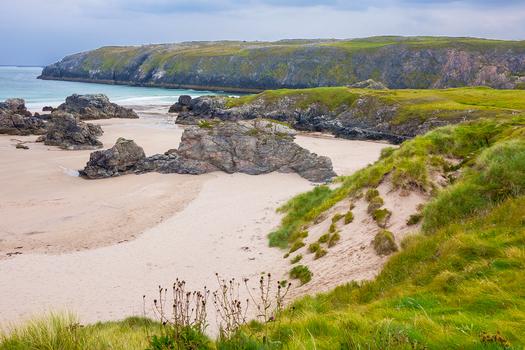 Ceannabeinne Beach Durness Schottland