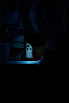 Das Gespenst im Kleiderschrank
