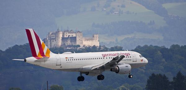 Anflug auf Salzburg
