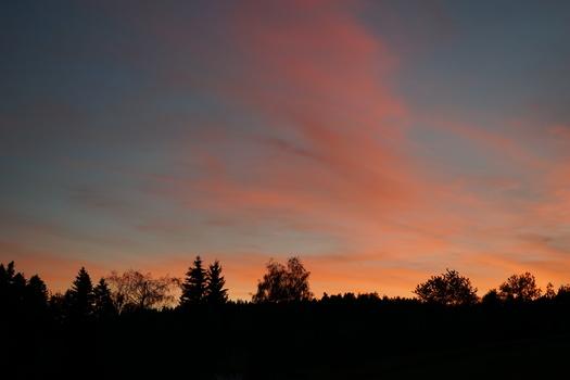 Bregenzerwald am frühen Abend